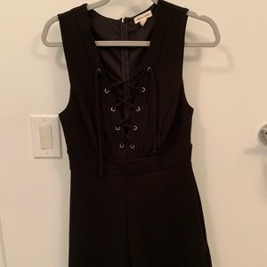 Urban Outfitters Black Lace Up Front Romper
